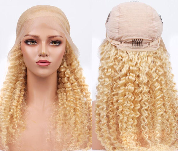Blonde Kinky Curly Lace Wig