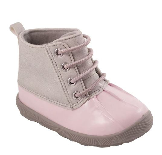 Light Grey Duck Boots   Midwest Bliss