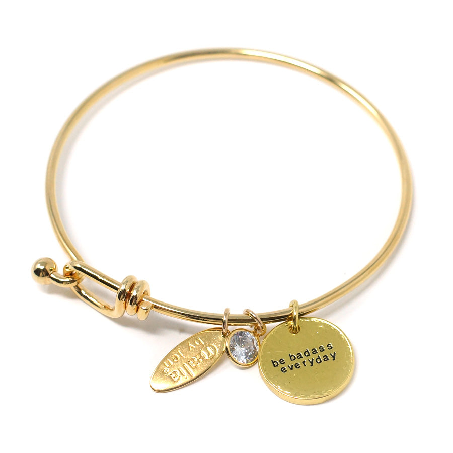 Be Badass Everyday (Bangle, Gold)