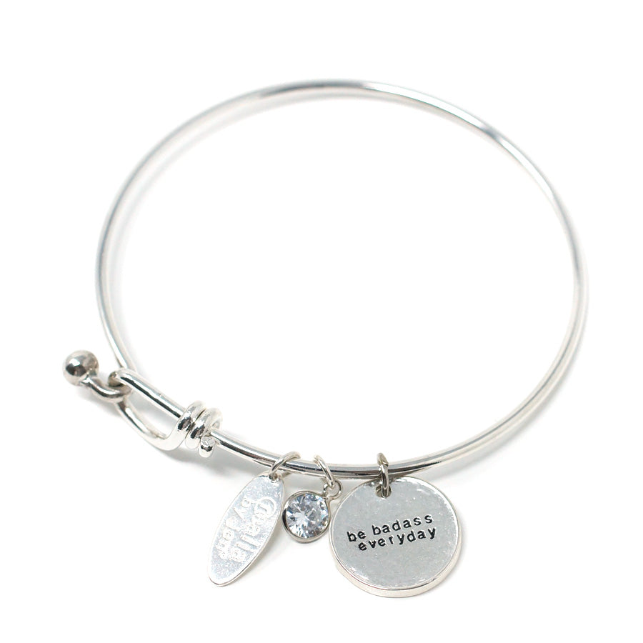 Be Badass Everyday (Bangle, Silver)