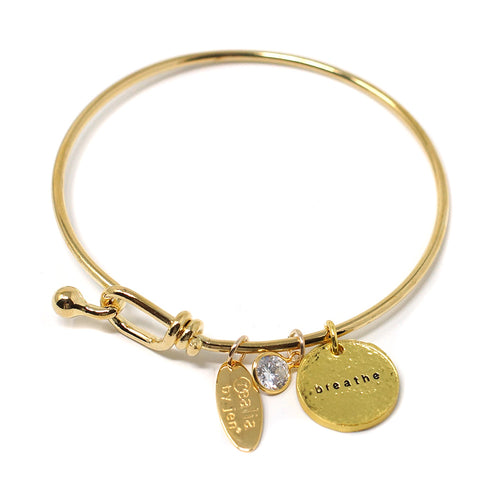 Breathe (Bangle, Gold)