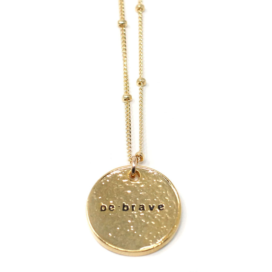 Be Brave (Necklace, Gold)