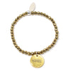 Be Badass Everyday (4mm Natural Stone Bracelet - Hematite, Gold)