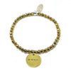 Be Brave (4mm Natural Stone Bracelet - Hematite, Gold)