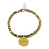 Breathe (4mm Natural Stone Bracelet - Hematite, Gold)