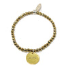 Faith (4mm Natural Stone Bracelet - Hematite, Gold)