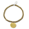 Fearless (4mm Natural Stone Bracelet - Hematite, Gold)