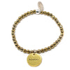 Fierce (4mm Natural Stone Bracelet - Hematite, Gold)