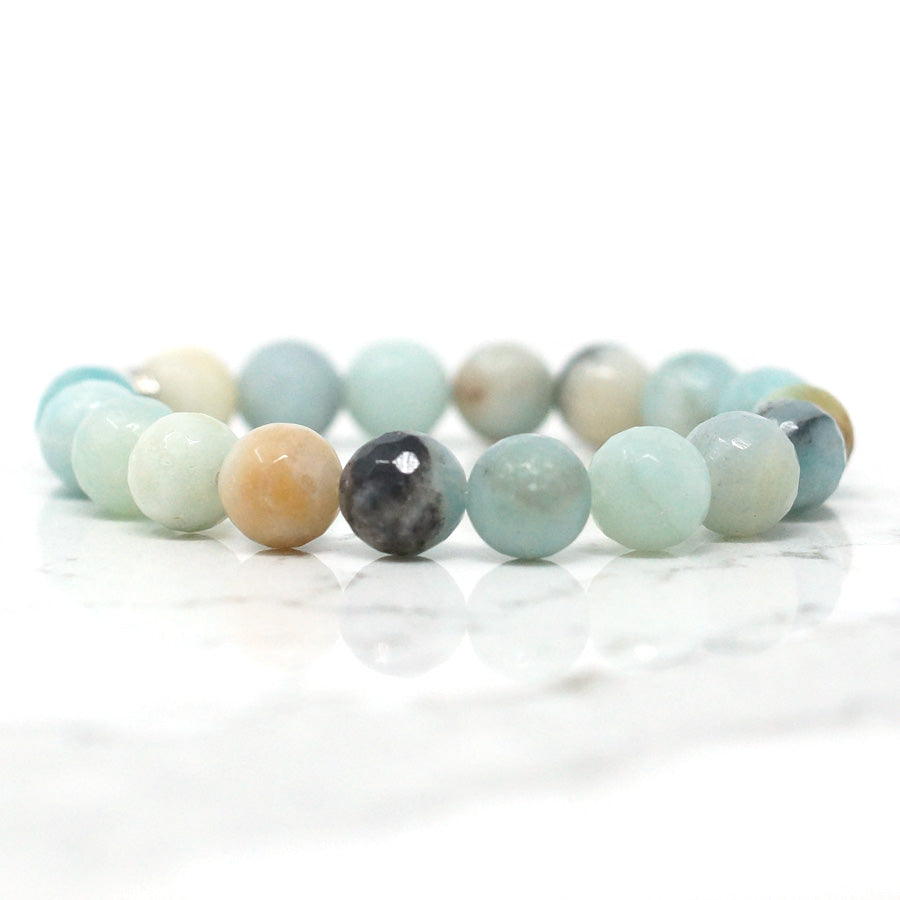 Amazonite - Faceted Natural Stone Bracelet (10MM)