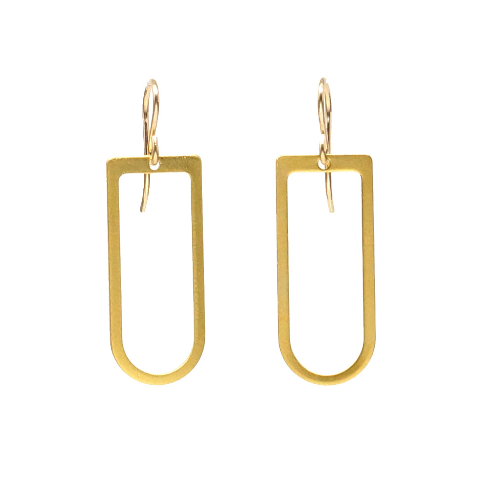Gold D-Ring Earrings
