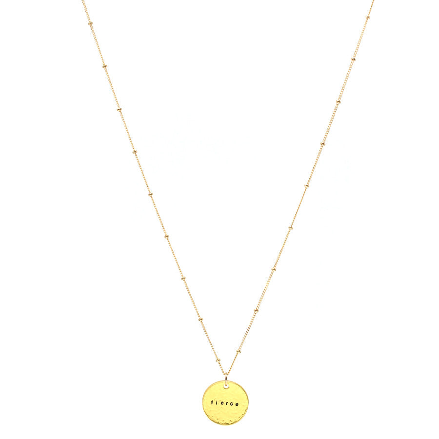 Fierce (Necklace, Gold)