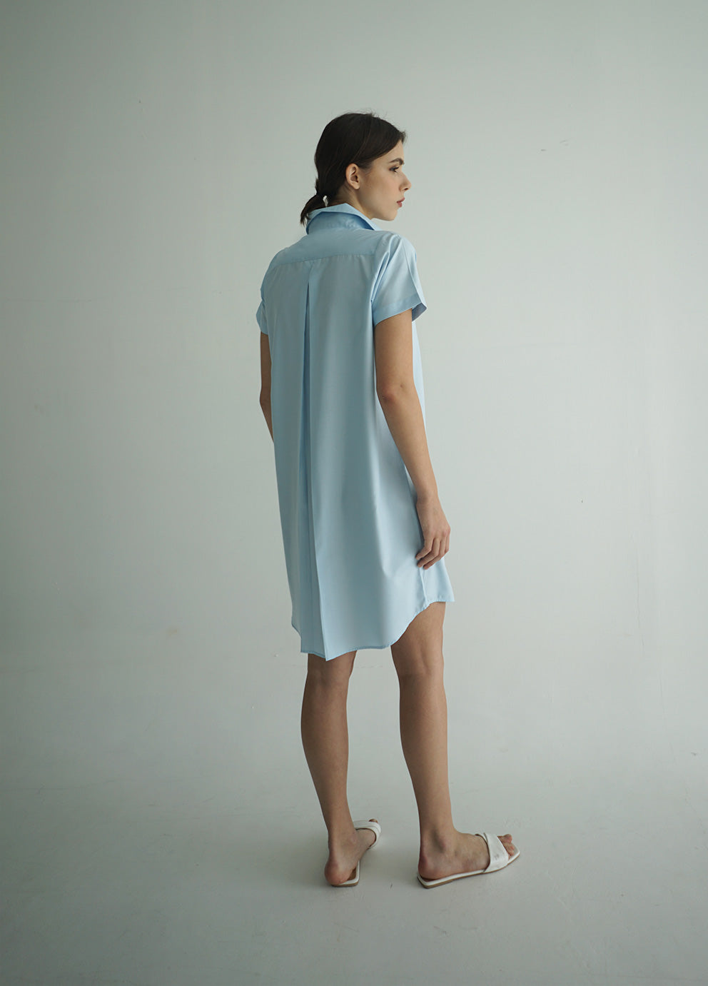 AIYA DRESS SKY BLUE