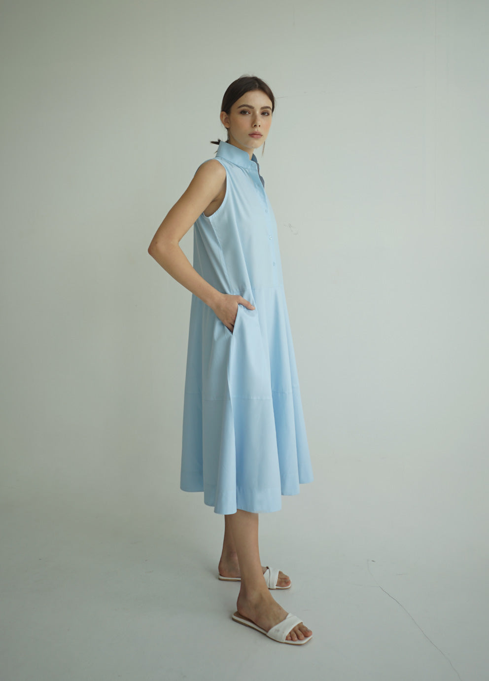 NIRA DRESS SKY BLUE