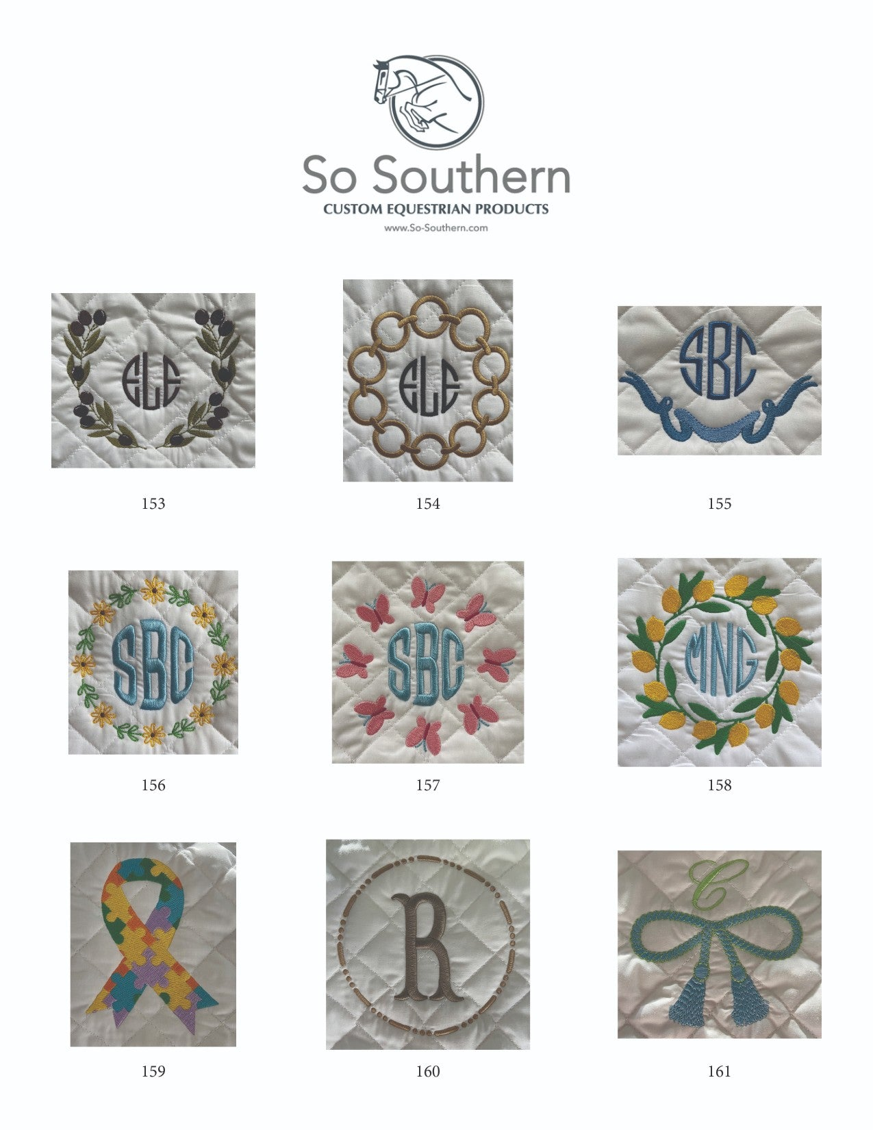 Monogramming & Font Options - page 12
