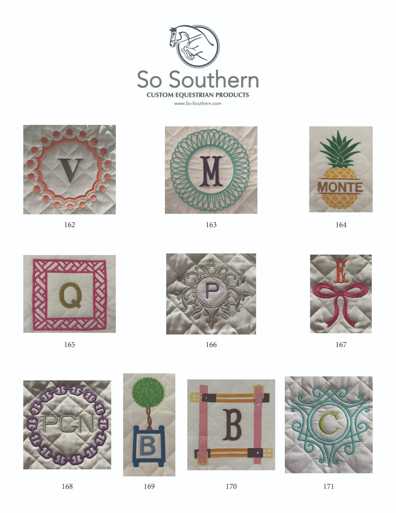 Monogramming & Font Options - page 13