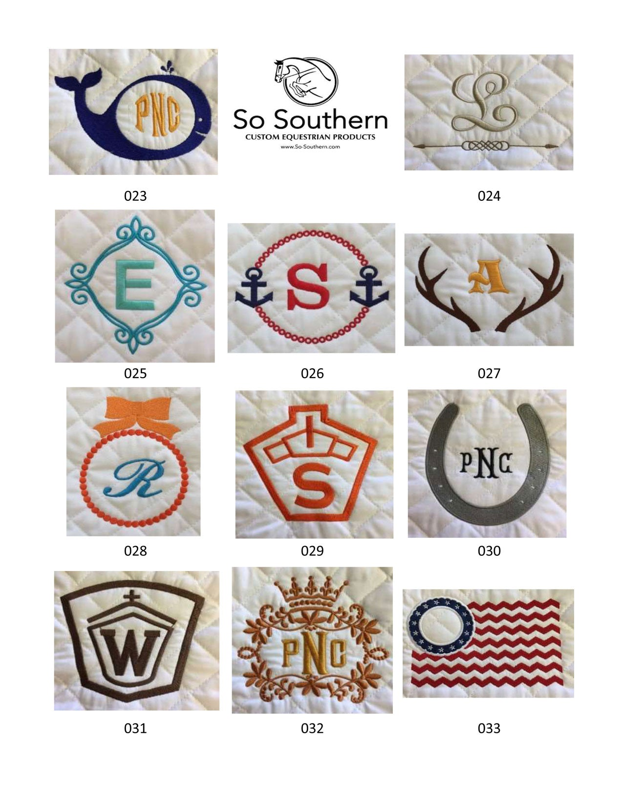 Monogramming & Font Options - page 3