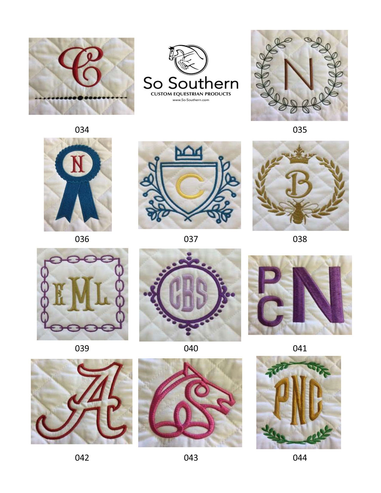 Monogramming & Font Options - page 4
