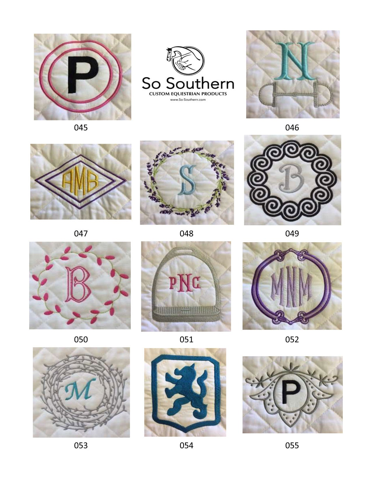 Monogramming & Font Options - page 5