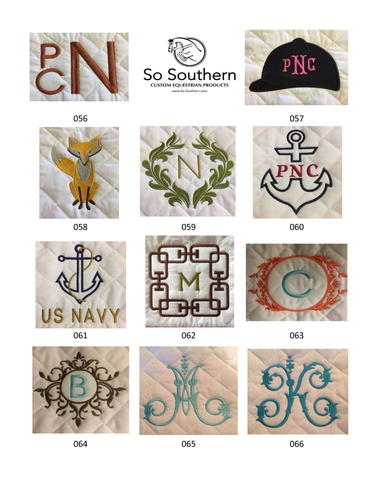 Monogramming & Font Options - page 6