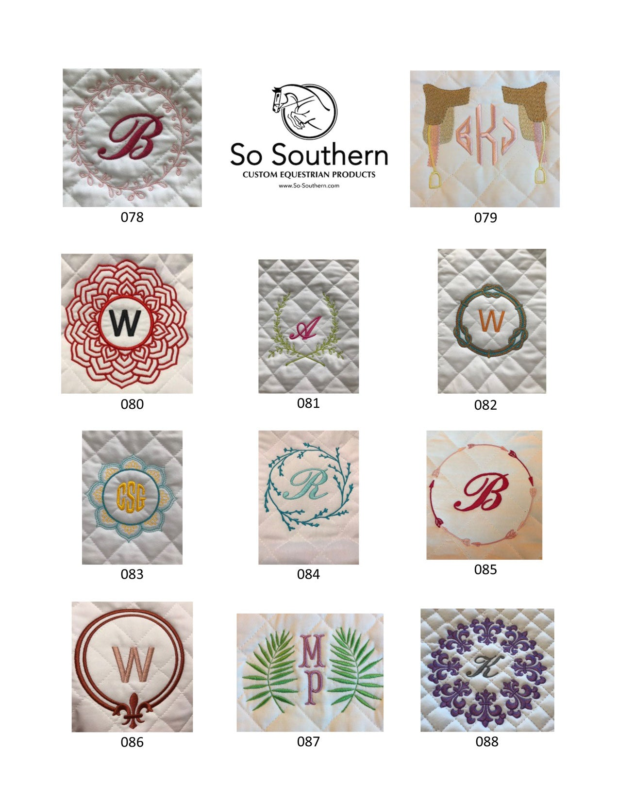 Monogramming & Font Options - page 8