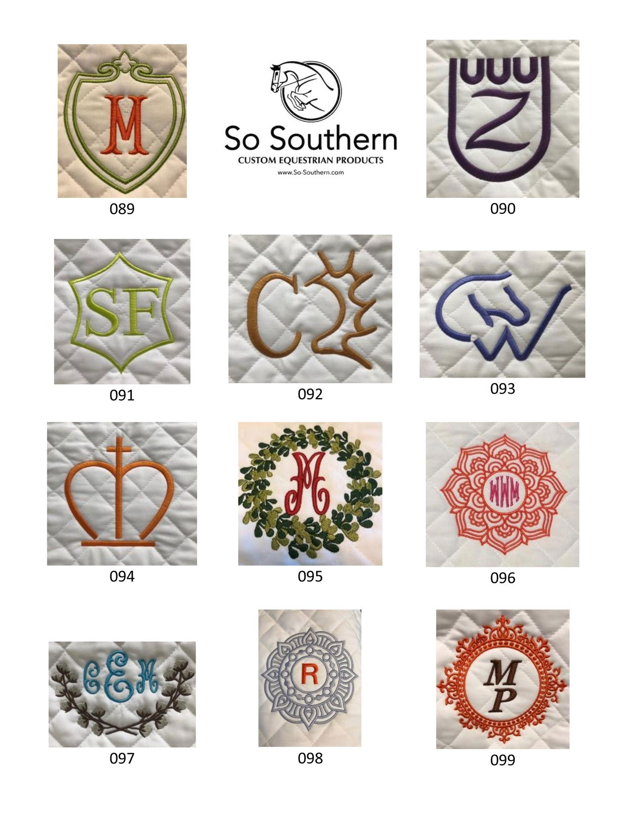 Monogramming & Font Options - page 9