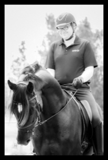 Nathan Harvey on his horse