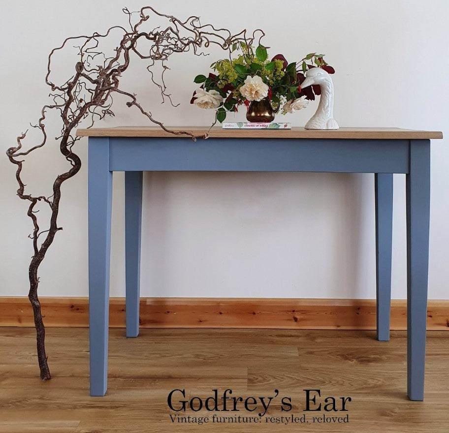 Table, painted in Annabell Duke Modern Finish Mineral Paint - Rebel Grey