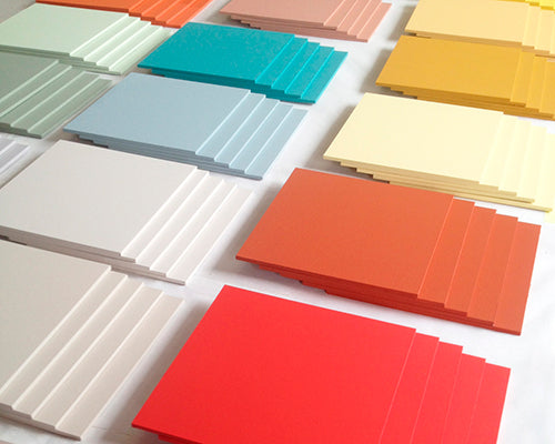 Hand-painted swatches of Fleur colour