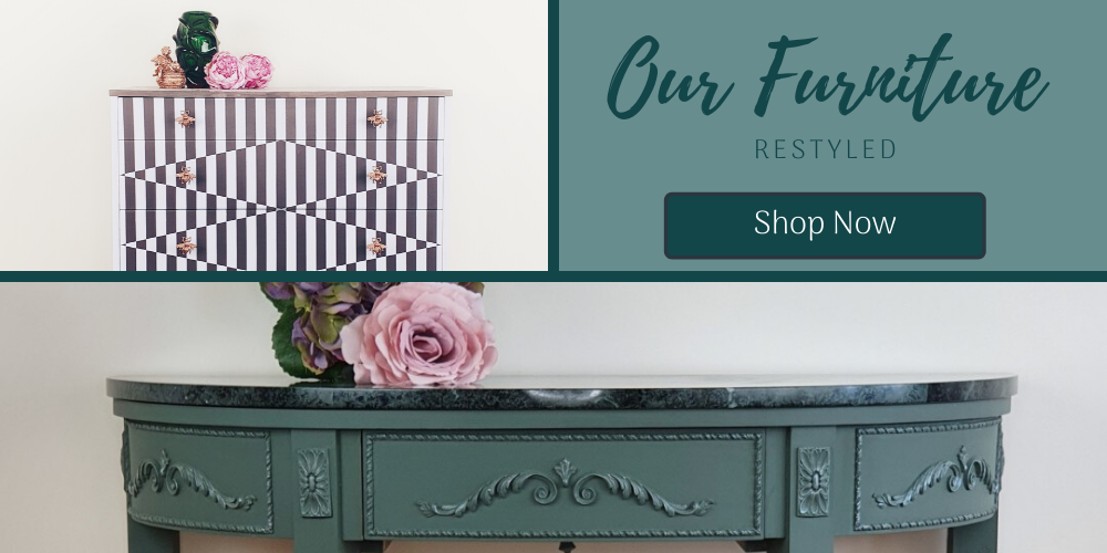 Our Furniture Restyled, showing images of painted furniture