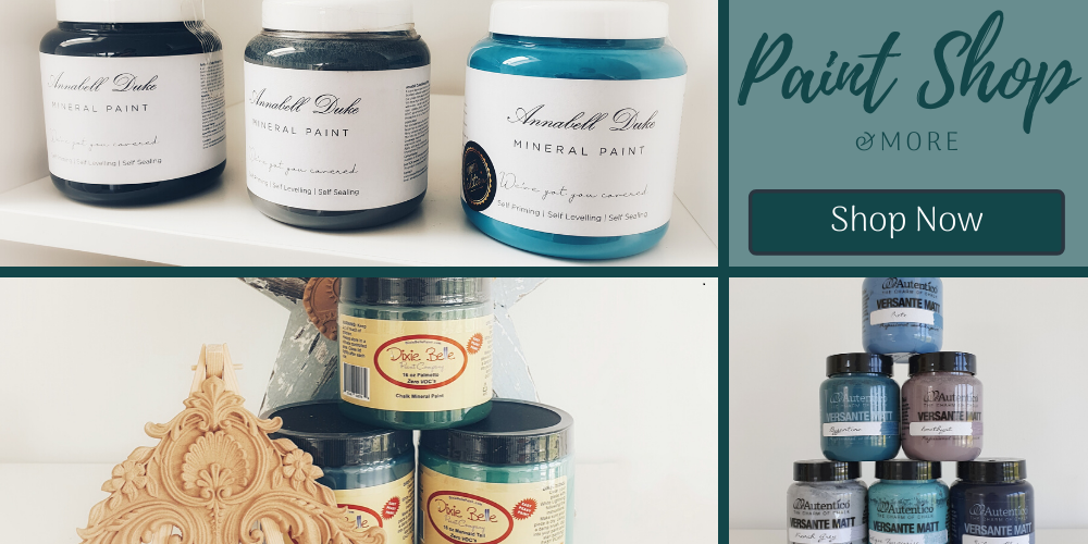 Paint Shop and More, showing images of Annabell Duke, Autentico and Dixie Belle paint
