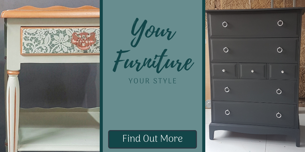 Your Furniture - Your Style, showing images of bespoke furniture painted to order