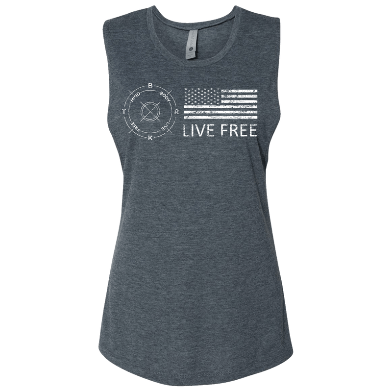 Live Free Ladies Workout Tank
