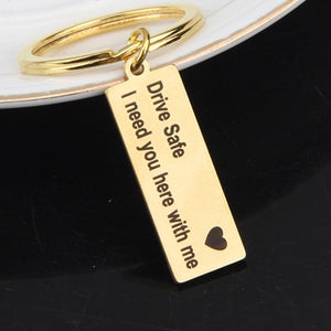 Engraved Drive Safe Key Chain - Pro Toddlers