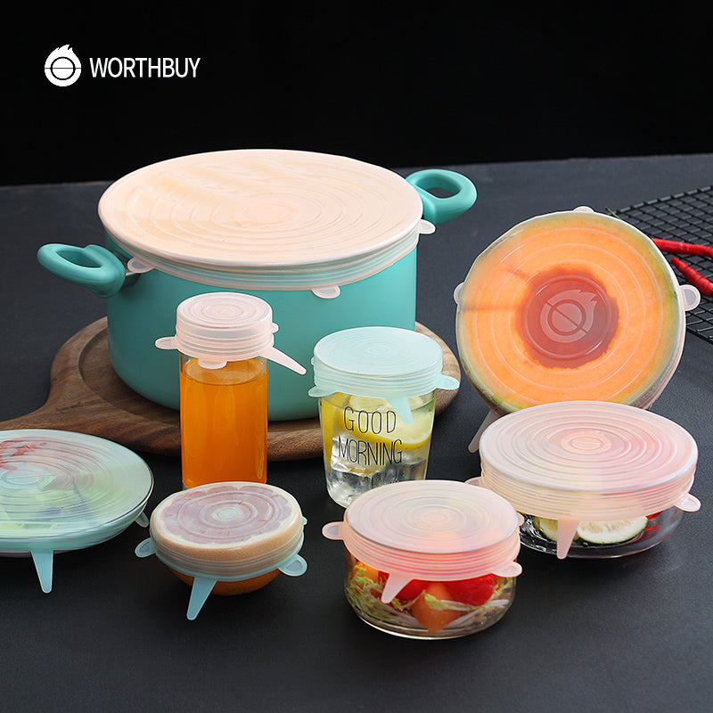 STRETCH-FIT™️ Silicone 6Pcs Lid Set