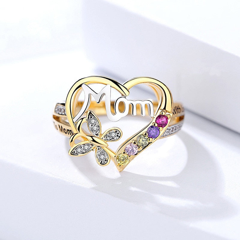 Gift For Mom - Heart Shape Mother's Love Ring