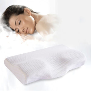 Memory Foam Bedding Pillow Neck protection Slow Rebound Memory Foam Butterfly Shaped Pillow Health Cervical Neck size  in 30*50c
