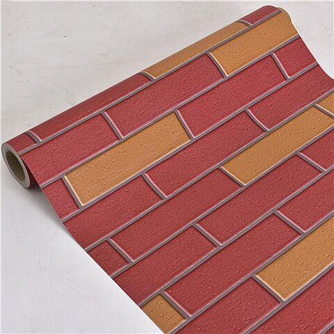 Vintage 3D Brick Wallpaper Roll