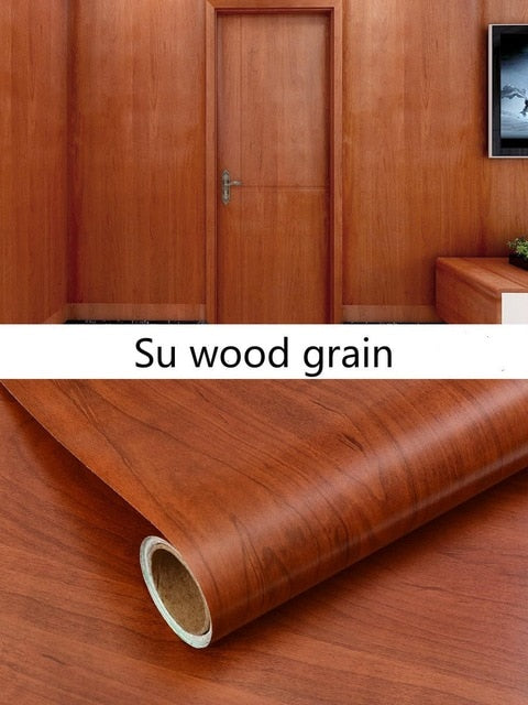 PVC wood grain wallpaper