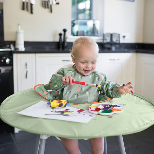 Tidy Tot Bib and Tray Kit with Travel Bag Grey NEW