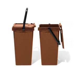 PLASTIC TRASH CAN 35L / Brown