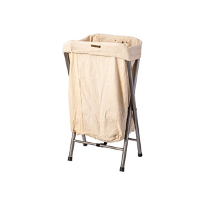 VINTAGE FOLDING LAUNDRY HAMPER / Off White