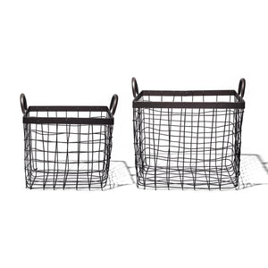 SQUARE BASKET WITH HANDLE / Small