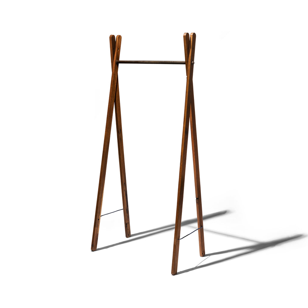 TEAK WOOD GARMENT RACK