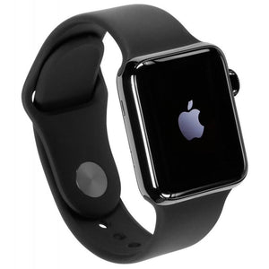 Apple Watch Series 2 42mm Stainless Steel Case Space Gray Black Band