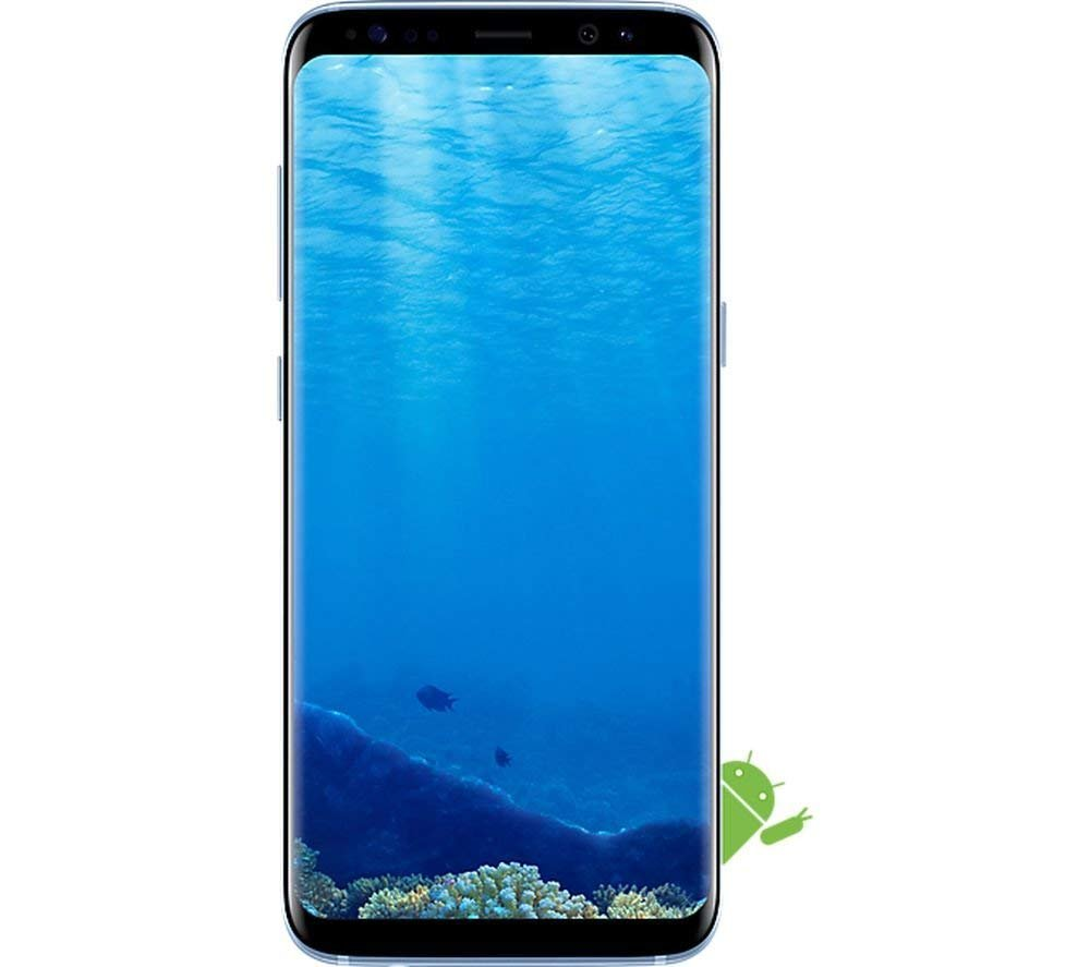 Samsung Galaxy S8 Certified Pre-Owned Factory Unlocked Phone - 5 8Inch  Screen - 64GB - Coral Blue