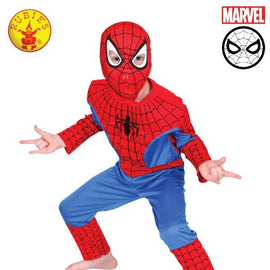 SPIDER-MAN COSTUME, CHILD-(SIZE-6-8) LICENSED COSTUME