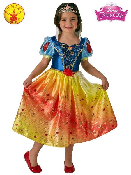 SNOW WHITE RAINBOW DELUXE COSTUME, CHILD- LICENSED COSTUME - ToyRoo