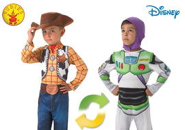 WOODY TO BUZZ LIGHTYEAR DELUXE REVERSIBLE, CHILD (3-5 yrs)