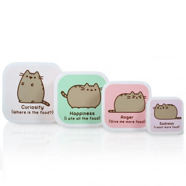 Pusheen The Cat Set of 4 Snack Pots Box - Licensed