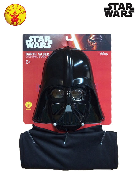 DARTH VADER CAPE AND MASK,  6+ YRS
